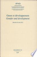 Gender and Development