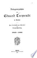 Verlagsverzeichnis von Eduard Trewendt in Breslau