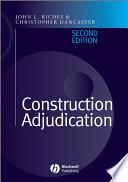 Construction Adjudication