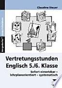 Vertretungsstunden Englisch 5./6. Klasse