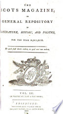 The Scots Magazine, Or, General Repository of Literature, History, and Politics