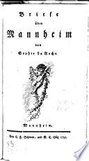 Briefe über Mannheim