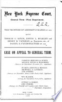 New York Supreme Court  General Term First Department Case on Appeal to General Term