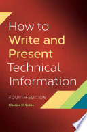 How To Write and Present Technical Information  4th Edition