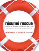 R  sum   Rescue  Essential resume saving techniques
