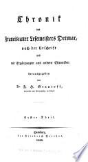 Chronik des Franciscaner lesemeisters Detmar, nach der urschrift und mit ergänzungen aus andern chroniken