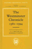 The Westminster Chronicle  1381 1394