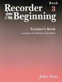 Recorder from the Beginning   Teacher s Book 3
