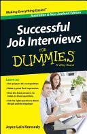 Successful Job Interviews For Dummies Australia Nz