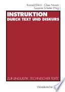 Instruktion durch Text und Diskurs