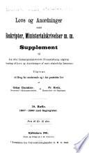 Samling af endnu gj  ldende love og anordninger m  v  af mere almindelig interesse  udgiven efter Indenrigsministeriets foranstaltning     1683 1869