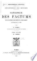 Catalogue des factums et d'autres documents judiciaires anterieurs a 1790: D-Kuntz