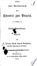 Ueber das Verhältniß der Theorie zur Praxis