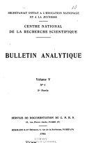 Bulletin signaletique  2e partie