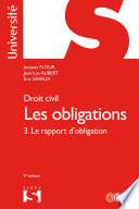 Droit Civil Les Obligations Volume 3 3 Le Rapport D Obligation
