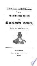 Matthias Claudius Werke