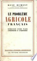 Le Probleme Agricole Francais
