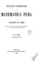 Trattato elementare di matematica pura di Giuseppe Da Camin