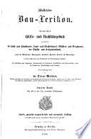 Illustrirtes Bau Lexikon