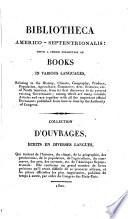 Bibliotheca Americo-Septentrionalis