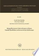 Röntgenfluoreszenz-Untersuchungen an kleinen Feststoff-Oberflächen und konzentrierten Salzlösungen