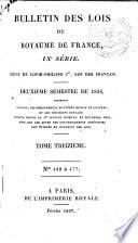 Bulletin des lois de la R  publique franc  aise