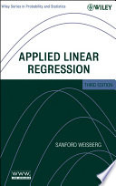 Applied Linear Regression