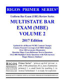 Rigos Primer Series Uniform Bar Exam  Ube  Multistate Bar Exam  MBE  Volume 2