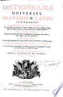 Dictionnaire universel fran  ois   latin