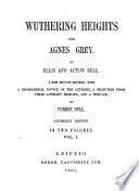 Wuthering Heights And Agnes Grey book