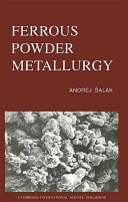 Ferrous Powder Metallurgy book