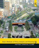 Basic methods of policy analysis and planning /