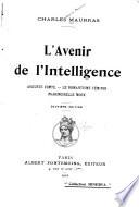 L avenir de l intelligence