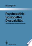 Psychopathie     Soziopathie     Dissozialit  t