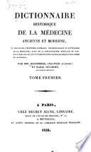 illustration Dictionnaire historique de la médecine ancienne et moderne, ou Précis de l'histoire générale, technologique et littéraire de la médecine v.1 c.2, 1828
