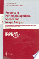 Progress in Pattern Recognition  Speech and Image Analysis