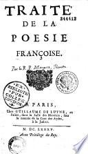 illustration du livre Traité de la poésie françoise, par le P. Mourgues