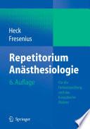 Repetitorium An  sthesiologie