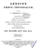 Lexicon graeco-prosodiacum