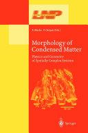 Morphology of Condensed Matter