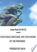 Nouveau recueil de citations et de pens  es   Version 2016