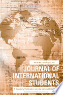 Journal Of International Students 2016 Vol 6 Issue 3 : a professional journal that publishes...