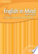 English in Mind Starter Level Teacher s Resource Book