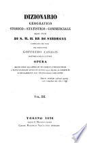 Dizionario geografico storico statistico commerciale degli stati del Redi Sardegna  etc