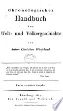 Chronologisches Handbuch der Welt  und V  lkergeschichte     Zweite vermehrte Ausgabe