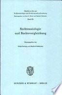 Rechtssoziologie und Rechtsvergleichung