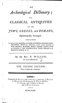 download ebook an archæological dictionary; or, classical antiquities of the jews, greeks, and romans alphabetically arranged pdf epub