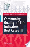 Community Quality Of Life Indicators Best Cases Iii