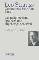 Die Religionskritik Spinozas und zugeh  rige Schriften