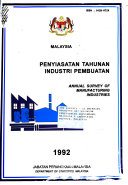 Annual survey of manufacturing industries